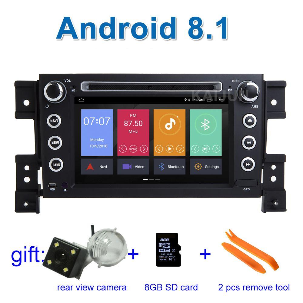 Android 8.1 Car DVD Stereo Player GPS for Suzuki Grand Vitara with WiFi Radio BT