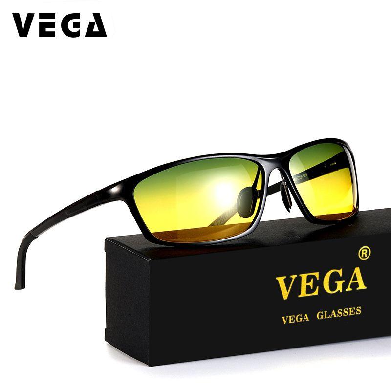 VEGA aluminium magnésium pilote lunettes de soleil de nuit HD Vision jour lunettes de nuit pour la conduite des lentilles Polaroid 2179B