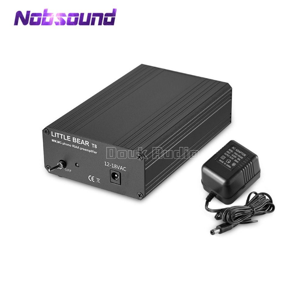 2018 Nobsound Little Bear T8 Phono RIAA Preamplifier MM&MC Turntable HiFi Mini Stereo Audio Pre-Amp