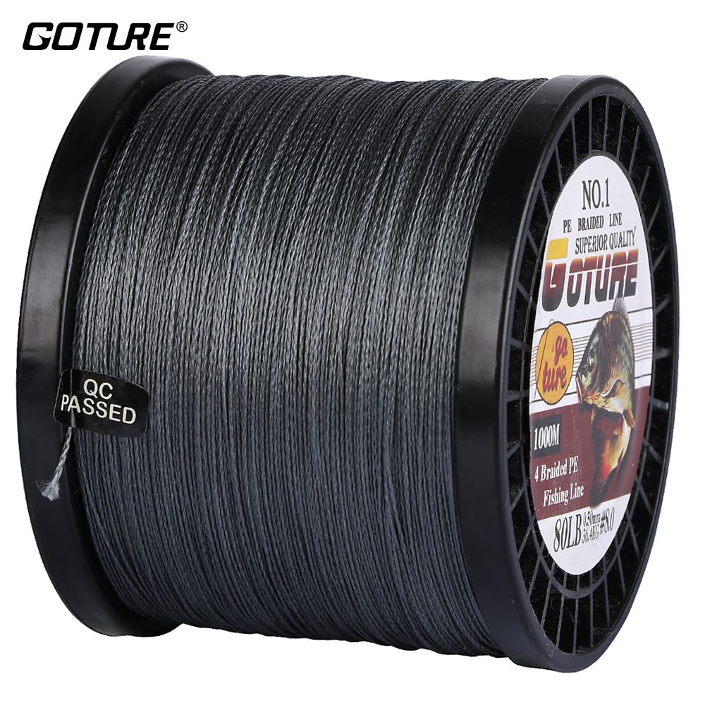 Goture 1000M PE Braided Fishing Line Multifilament Super Strong Carp Fishing Rope 8-80lb For Freshwater/Saltwater