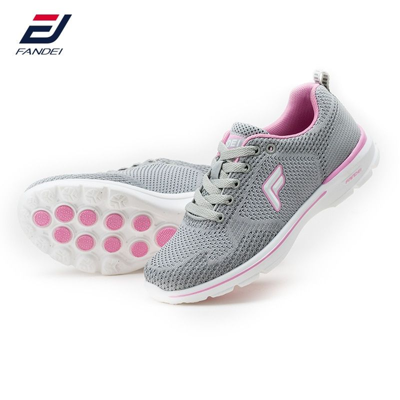 FANDEI spring 2017 sneakers women breathable mesh running shoes for women cushioning sport shoes woman zapatillas <font><b>mujer</b></font> deporte