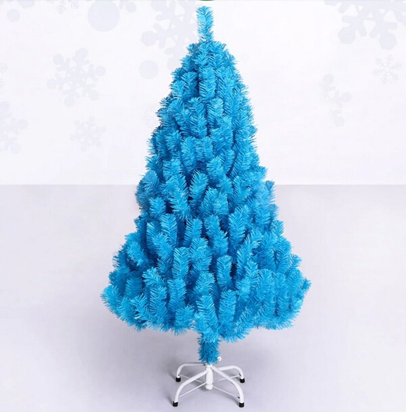 Free Shipping Event Party Christmas Xmas Tree 120cm Quality Encryption Turquoise Blue Pine Artificial Christmas Tree