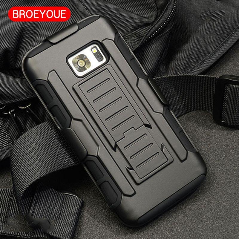 BROEYOUE Armor Hard Case For Samsung Galaxy S3 S4 S5 S6 S7 Edge Plus Note 3 4 5 A3 A5 A7 A8 2016 J3 J5 J7 Cell Phone Cases Cover