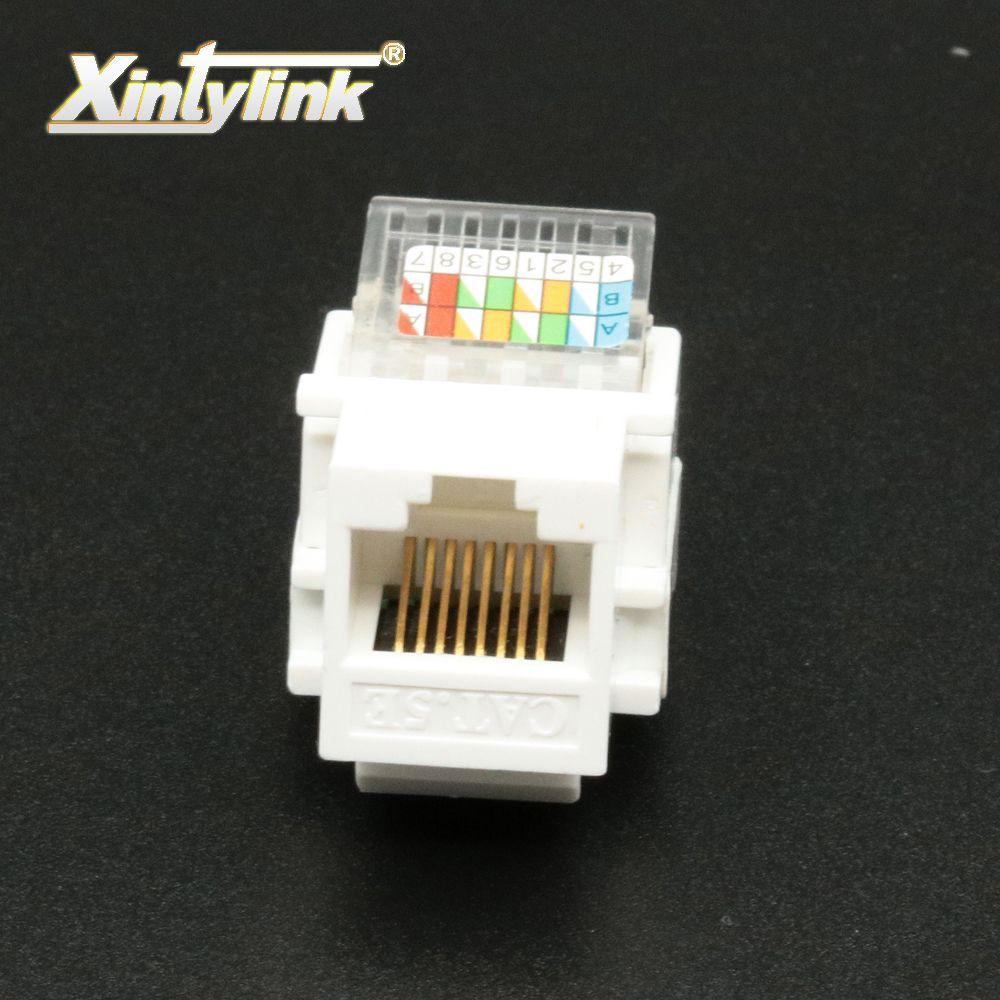 Xintylink rj45 prise jack pièces cat5 cat5e cat6 module sans outil Patch Panneau Plaque Murale Standard Keystone Port modulaire 10 pcs