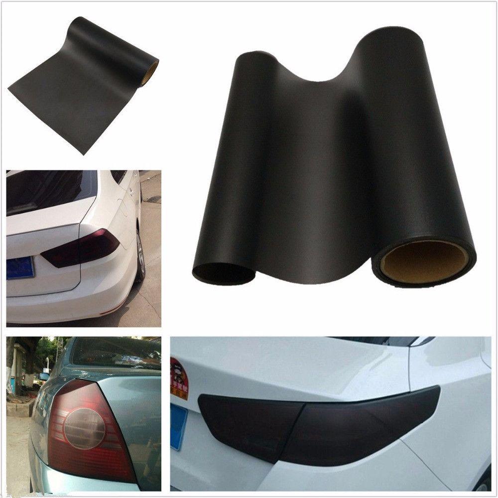 YAQUICKA Voiture BRICOLAGE Gommage Mat Noir Phare De Voiture Feu arrière teinte Film Vinyle Cover Decal Sticker Fit Pour Honda Civic etc