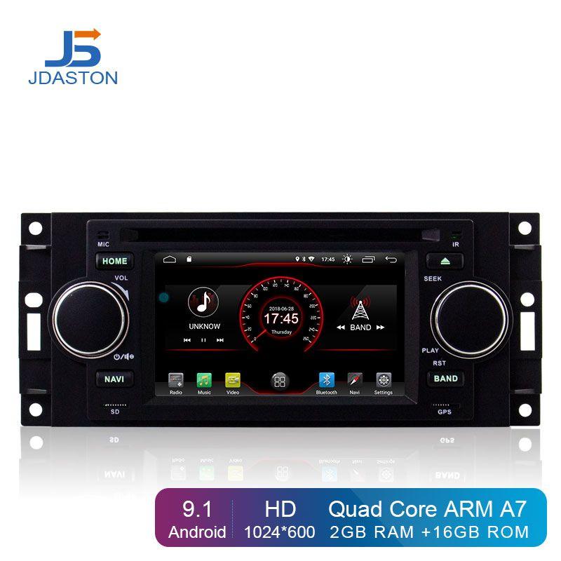 JDASTON Android 9.1 Auto DVD Player Für Jeep Grand Cherokee Kommandant Wrangler Chrysler 300C PT Cruiser Sebring Dodge Caliber RAM
