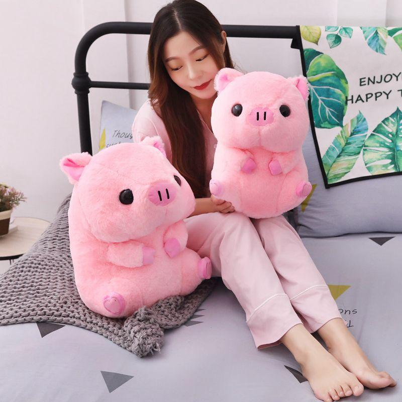 1PC joli gros cochon rond en peluche jouet Kawaii Animal rose cochon poupées jouets en peluche pour enfants doux oreiller filles noël saint-valentin cadeau