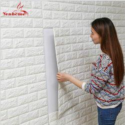 DIY Diri Perekat 3D Bata Stiker Dinding Ruang Tamu Dekorasi Busa Tahan Air Penutup Dinding Wallpaper untuk TV Latar Belakang Kamar Anak