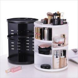 Fashion 360-degree Rotating Makeup Organizer Box Brush Holder Jewelry Organizer Case Jewelry Makeup Cosmetic Storage Box