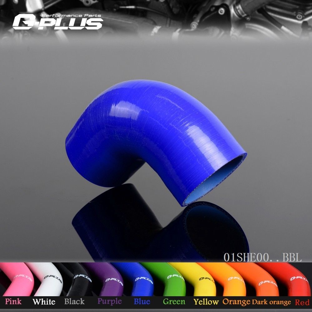Free Shipping  57mm 2 1/4 90 Degree Hose Turbo Silicone Elbows Coupler Pipe Hose