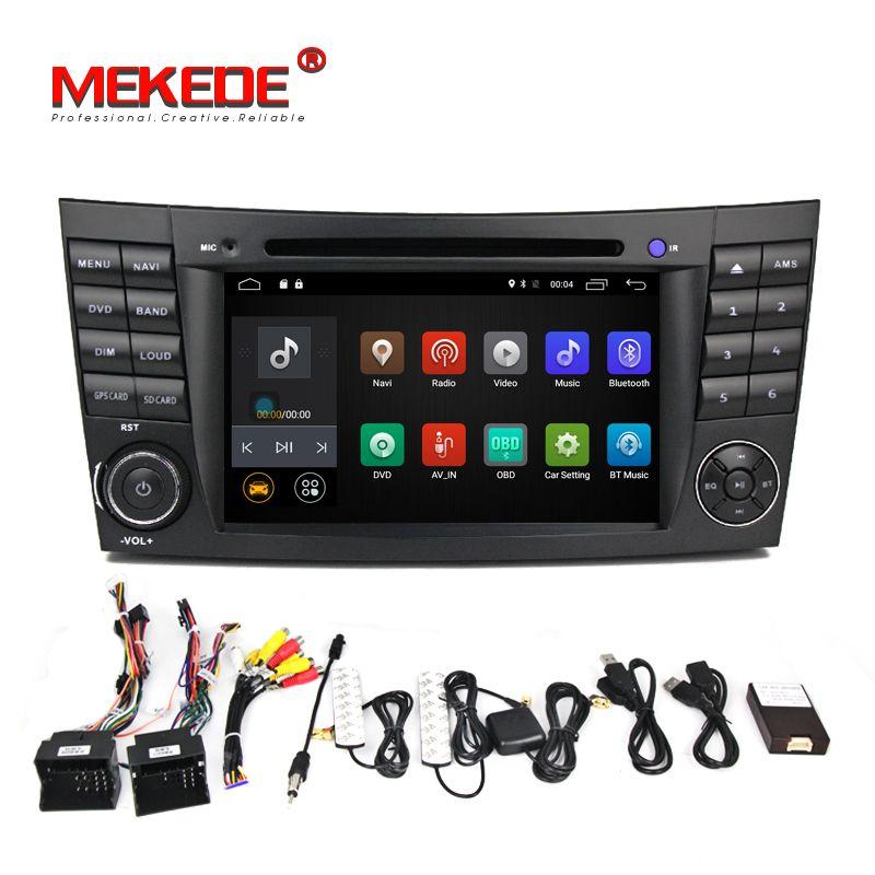 Android 7.1.1! 2g RAM 7 zoll Auto DVD Player Für Mercedes/Benz/E-Klasse/W211/E200 /E220/E300/E350 Quad Core Wifi 4g USB GPS Radio