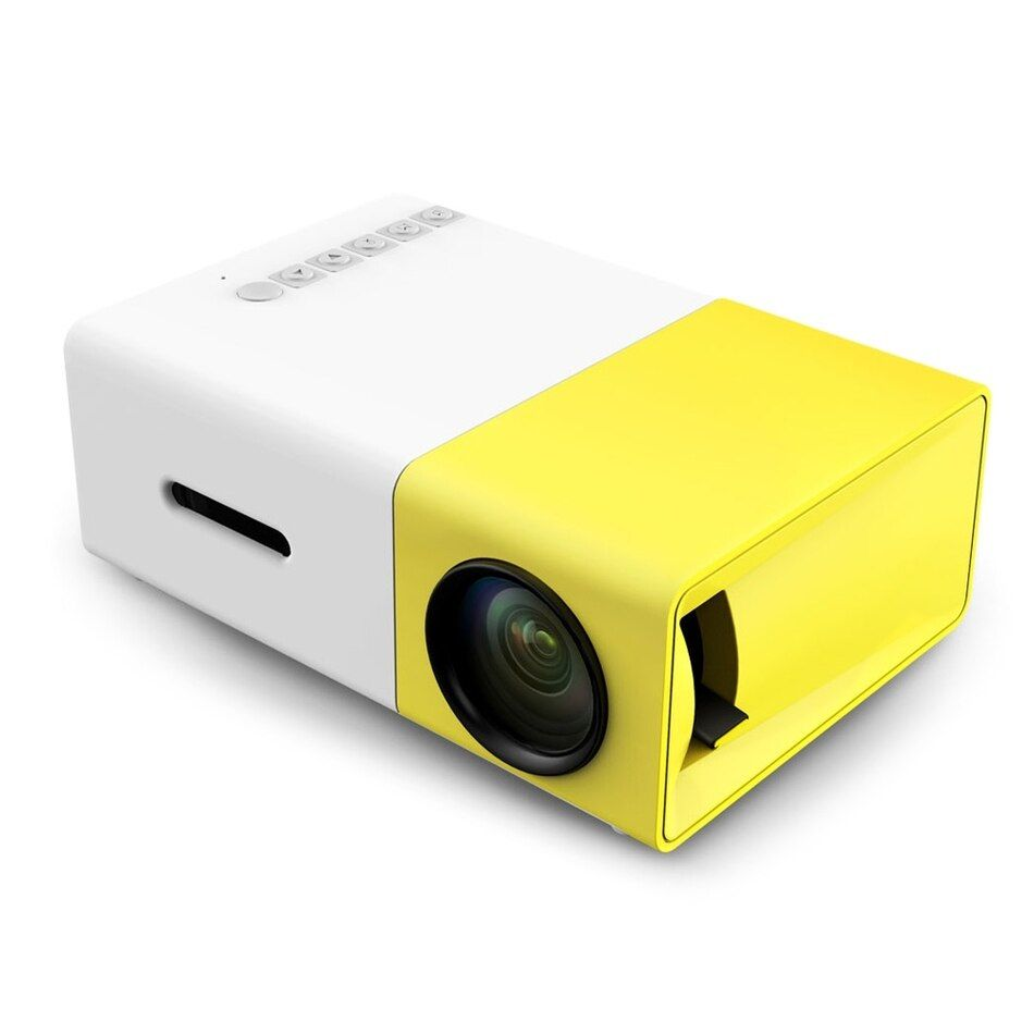 Original YG300 Mini Projector Full HD LED Projector 500LM Audio HDMI USB Mini YG-300 Proyector Home Theater Media Player Beamer