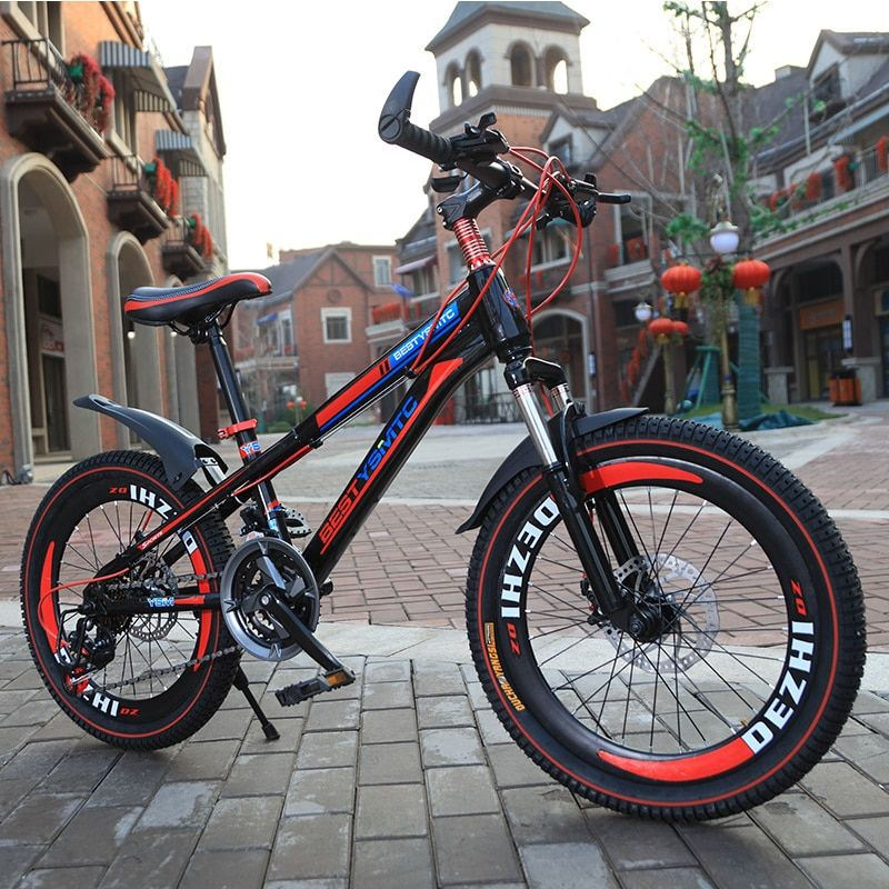 20-inch mountain bike Variable speed disc brake bold tires children boys and girls students bicycles sport kids bicicleta