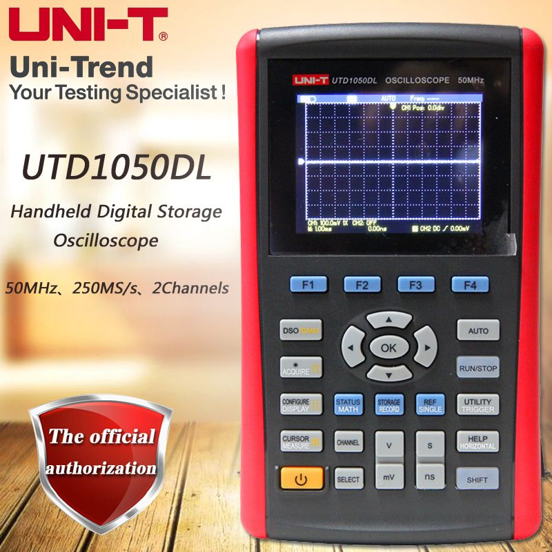 UNI-T UTD1050DL Dual Channel Handheld Digital Storage Oscilloscope 50MHz Bandwidth 250MS/s Sample Rate