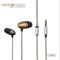 100% Original Boarseman CX98S en la oreja el auricular de 3,5mm de alta fidelidad en la oreja auriculares dinámico auriculares para el ordenador de uso común