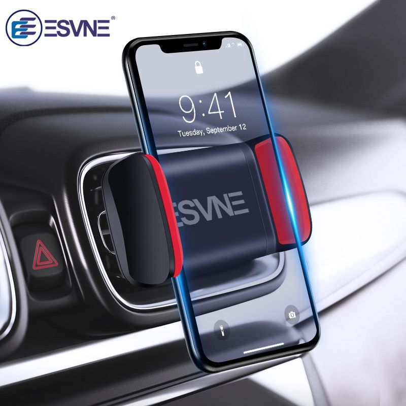 ESVNE Universal Car Phone Holder for iPhone X 8 7 6 Air Vent Mount Phone Car Holder For Phone in Car Mobile Phone Stand