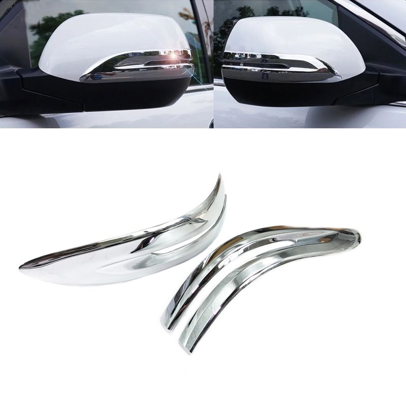 JEAZEA 2Pcs ABS Chrome Car Rearview Mirror Strip Cover Trim Decorate Frame Moulding For Honda CRV CR-V 2012 2013 2014 2015