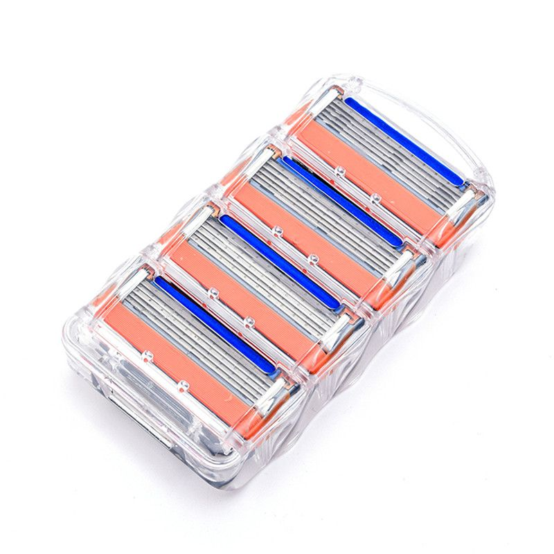 4pcs/lot Razor Blades Cassette Shaving Blade for Men Face Compatible for Fusione Proglide or Mache 3 Machine