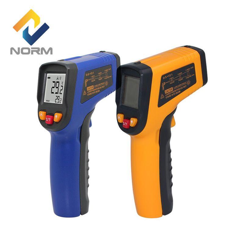 Thermomètre infrarouge numérique sans contact de norme 400,600 centidegrés pyromètre infrarouge industriel et domestique