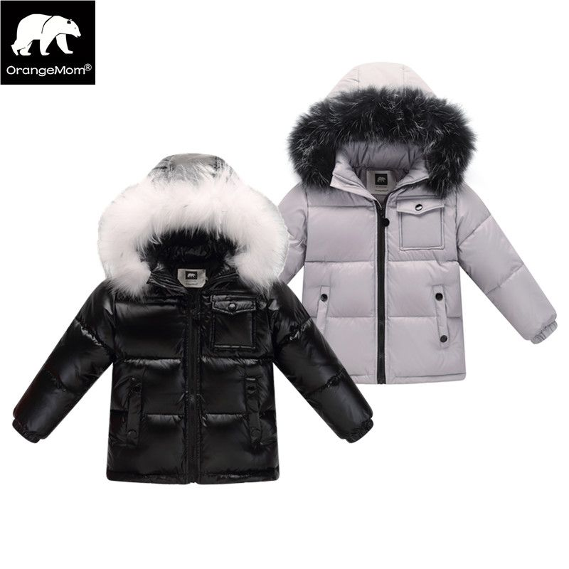 2017 winter down jacket parka for girls boys coats , 90% down jackets children's clothing for snow wear kids outerwear & coats