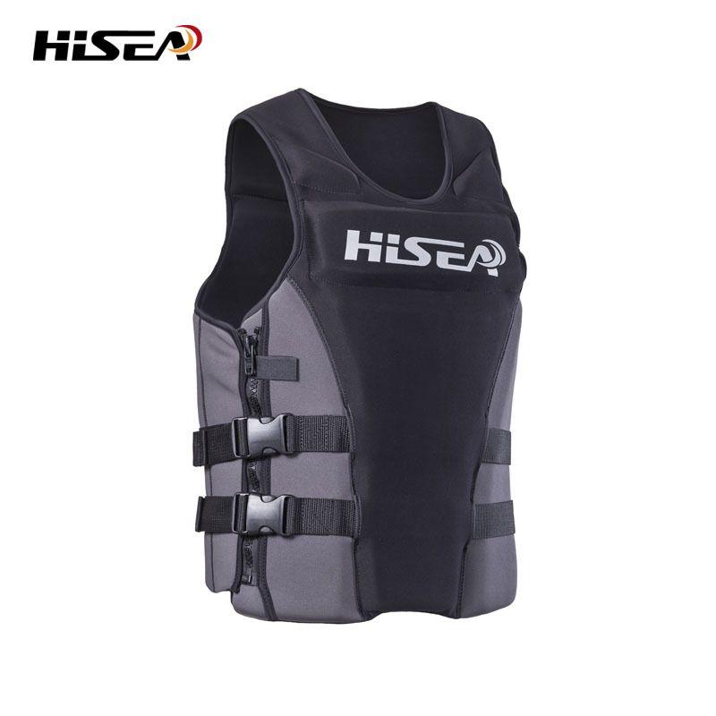 HISEA 45KG-85KG Adult Buoyancy Life Jacket Profession Adjustable Life Vest for Swimming Fishing Surfing Kayak Life Jackets F