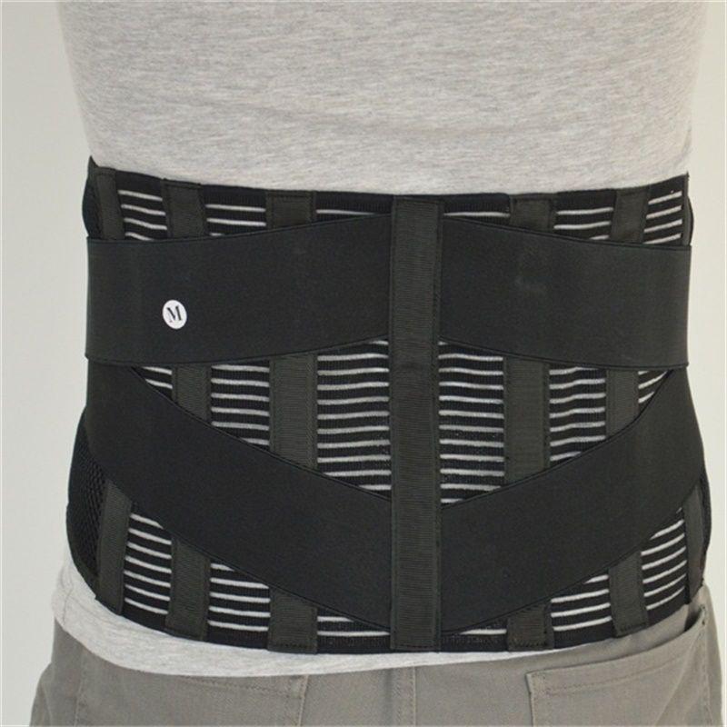 Lombaire au Bas du Taille Double Réglable Retour Ceinture Pour Soulager La Douleur Durable Noir Soutien de Taille Brace Ceinture Gym Sport Accessoires