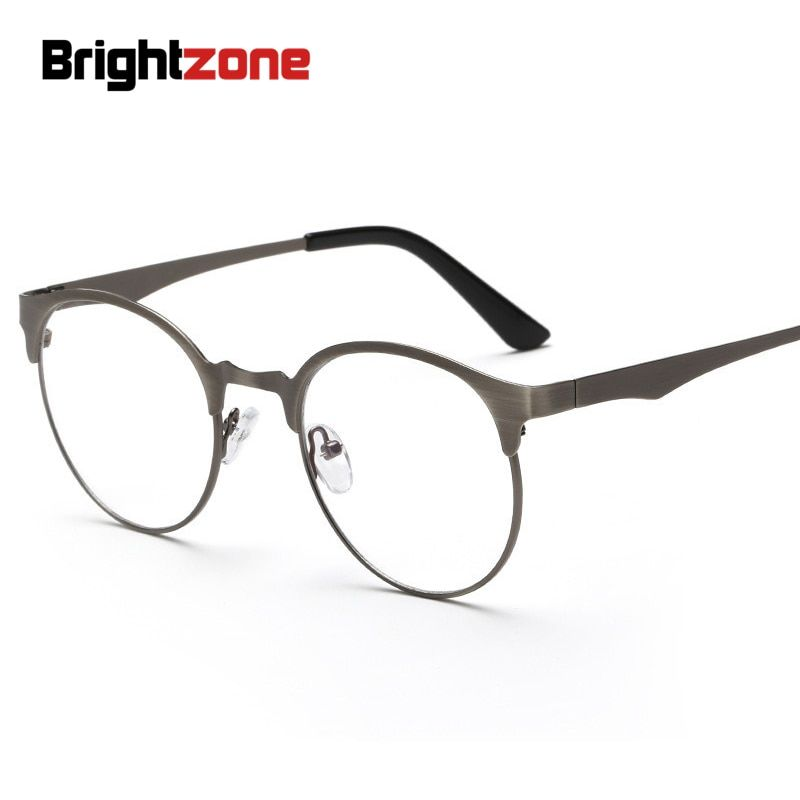 Nouveau Anti-bleu lumière lunettes rondes en métal plaine Anti-fatigué lunettes confort des yeux usage général restauration anciennes façons lunettes