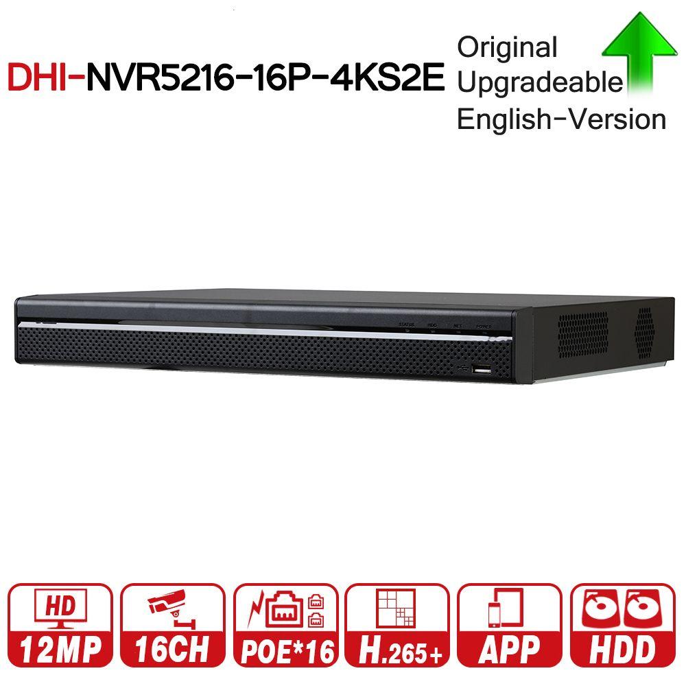 DH Pro 16CH NVR NVR5216-16P-4KS2E Mit 16CH PoE Port Unterstützung Zwei Weg Sprechen e-POE 800 mt MAX Netzwerk video Recorder Für System
