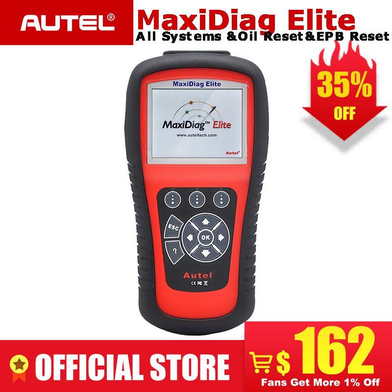 AUTEL MaxiDiag Elite MD802 Alle system auto detektor OBDII code reader scanner für EPB Öl reset OBD2 diagnose werkzeug PK MD805