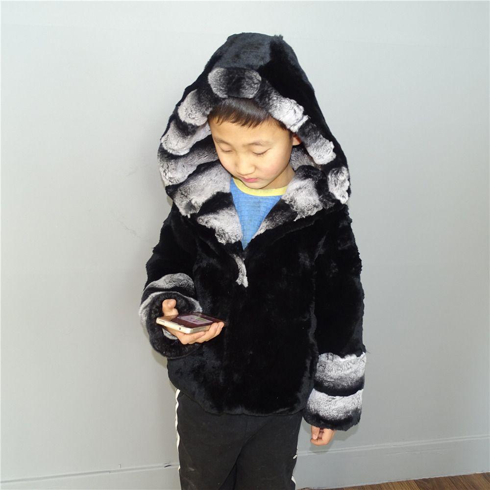Children's clothing Rex rabbit fur coat Natural fur