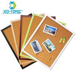 Бесплатная доставка 30*40 см пробковая доска для объявлений 5 цветов МДФ рамка для избранной памятки булавка для фотографий доска пробковая д...