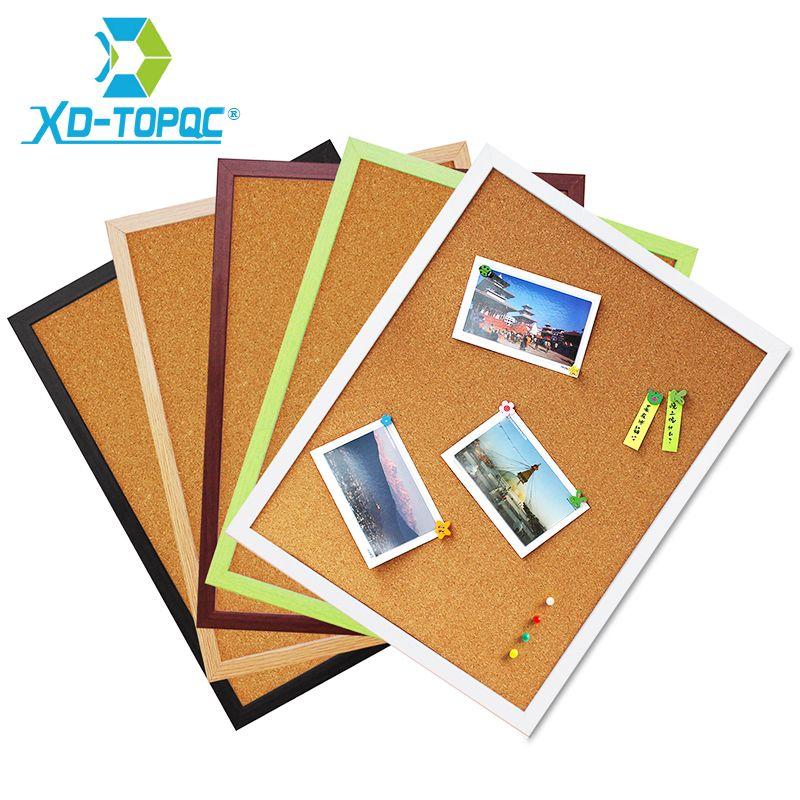 Livraison gratuite 30*40 cm tableau d'affichage en liège 5 couleurs cadre MDF pour les Photos mémo choisies tableau d'affichage en liège tableaux d'affichage pour les Notes