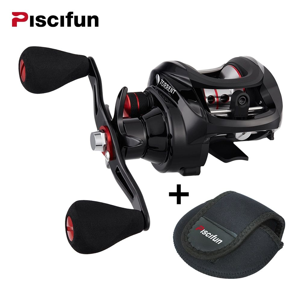 Piscifun Torrent Baitcasting Reel With Cover Bag 8.1kg <font><b>Carbon</b></font> Drag 7.1:1 Gear Ratio Saltwater Freshwater Baitcaster Fishing Reel