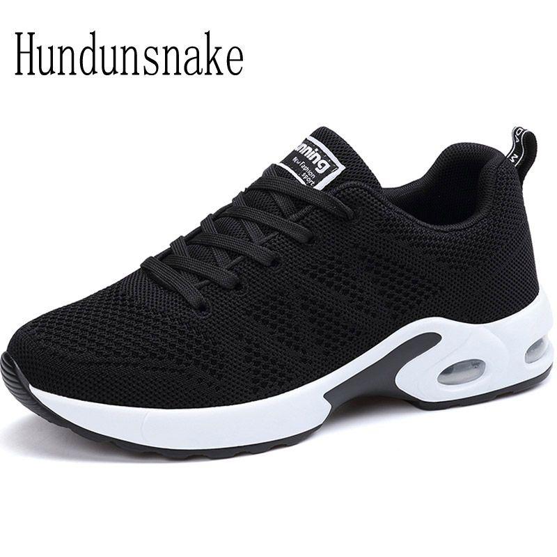 Hundunsnake Black Sneakers Women 2017 Running Shoes Jogging Women's Sports Shoes Female Krasovki Ladies Athletic Shoes Gym T381