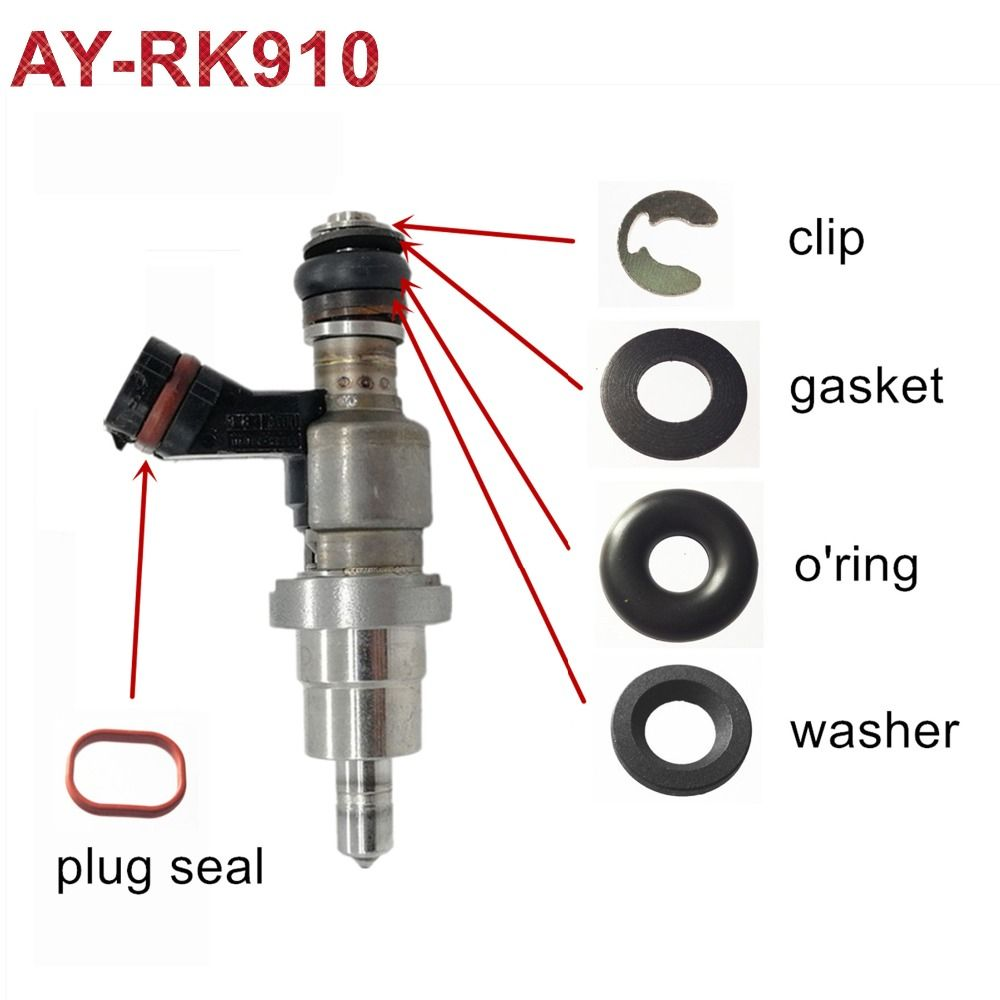 50sets Fuel Injector Repair Kit For Toyota Avensis RAV4 OPA 1AZFSE 2325028030 2320928030 23250 28070 23250-28090 (AY-RK910)