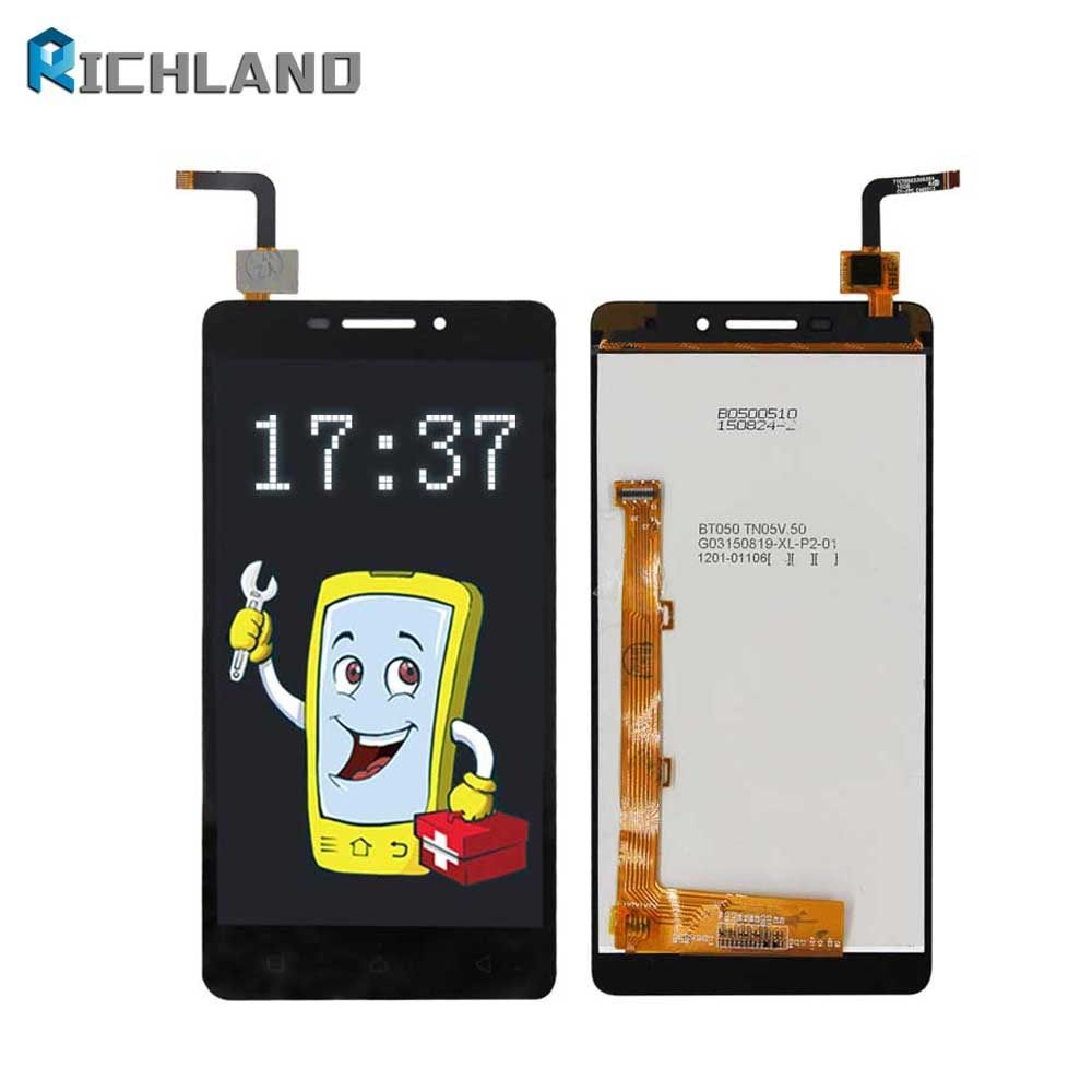Richland LCD Display For Lenovo Vibe P1m P1ma40 P1mc50 LCD Screen Display Touch Screen Digitizer Assembly Replacement Parts+tool