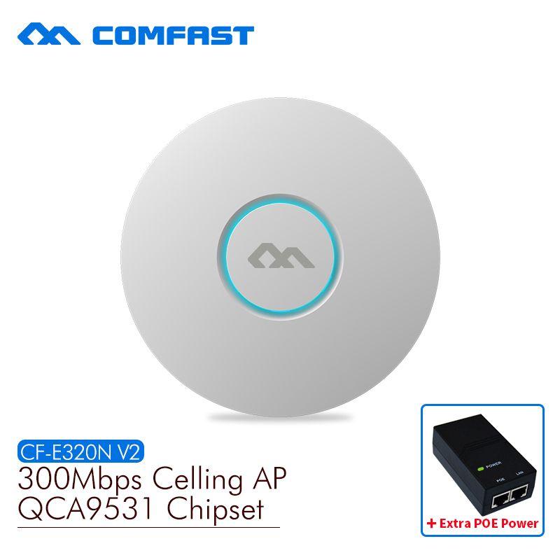 COMFAST point d'accès sans fil CF-E320N-V2 300 Mbps Plafond AP 802.11b/g/n routeur wifi AP Intérieur de grande zone de couverture wifi point d'accès AP