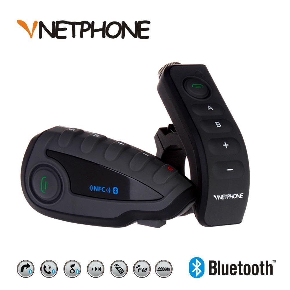 VNETPHONE V8 Interphone 5 Voies Bluetooth Équipement Moto Casque Casque FM Stéréo MP3 NFC prise en Charge De la Télécommande de Téléphone Intelligent