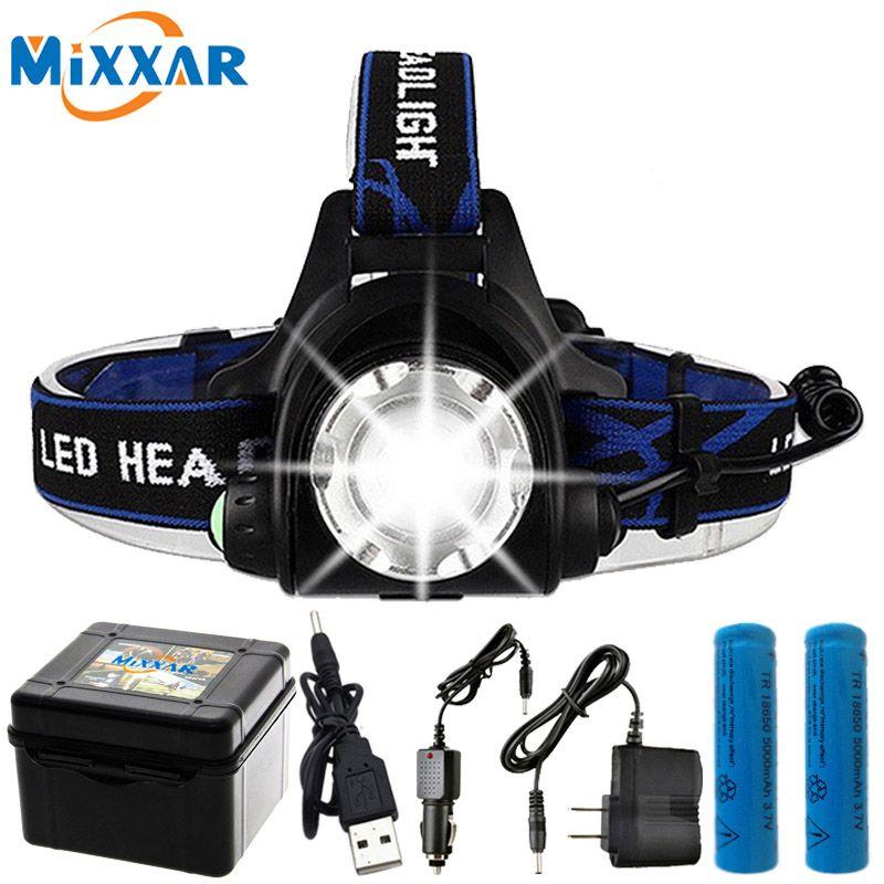 10000LM T6 L2 led Zoomable livraison directe Phare Étanche lampe frontale lampe torche frontale De Pêche lumière de chasse