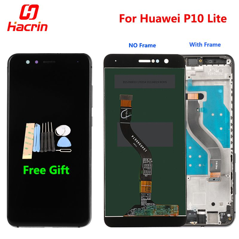 Huawei P10 Lite LCD Display + Touch Screen FHD Digitizer Assembly Replacement Screen For Huawei P10 Lite  WAS-LX2J /LX2/LX1A