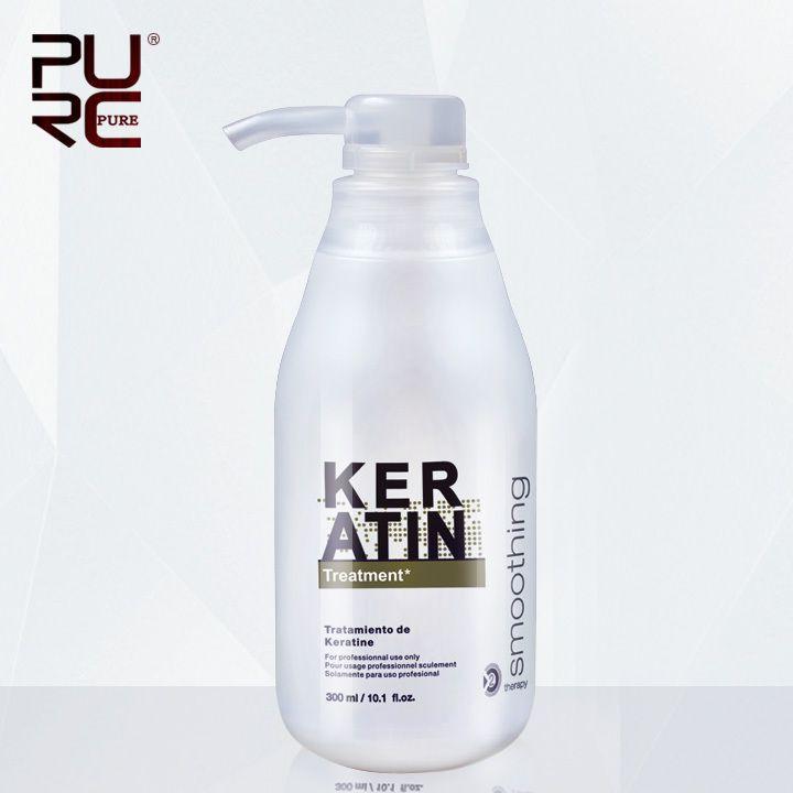 PURC 5% formol 300 ml Traitement Kératine Brésilienne Défrisage Éliminer Les Frisottis et Réparation Endommagé Kératine Traitement Des Cheveux