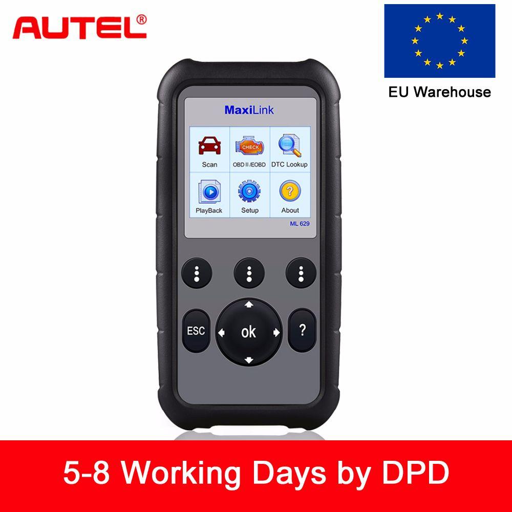 Autel ML629 Maxi Link Code Reader Auto Diagnostic Tool OBD2 Scanner ABS Airbag Code Reader Upgrade Autel ML619 AL619