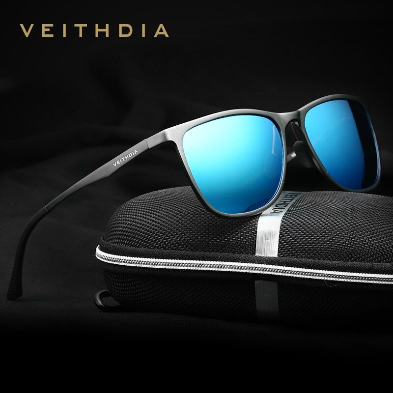 VEITHDIA Retro <font><b>Aluminum</b></font> Magnesium Brand Men's Sunglasses Polarized Lens Vintage Eyewear Accessories Sun Glasses For Men 6623