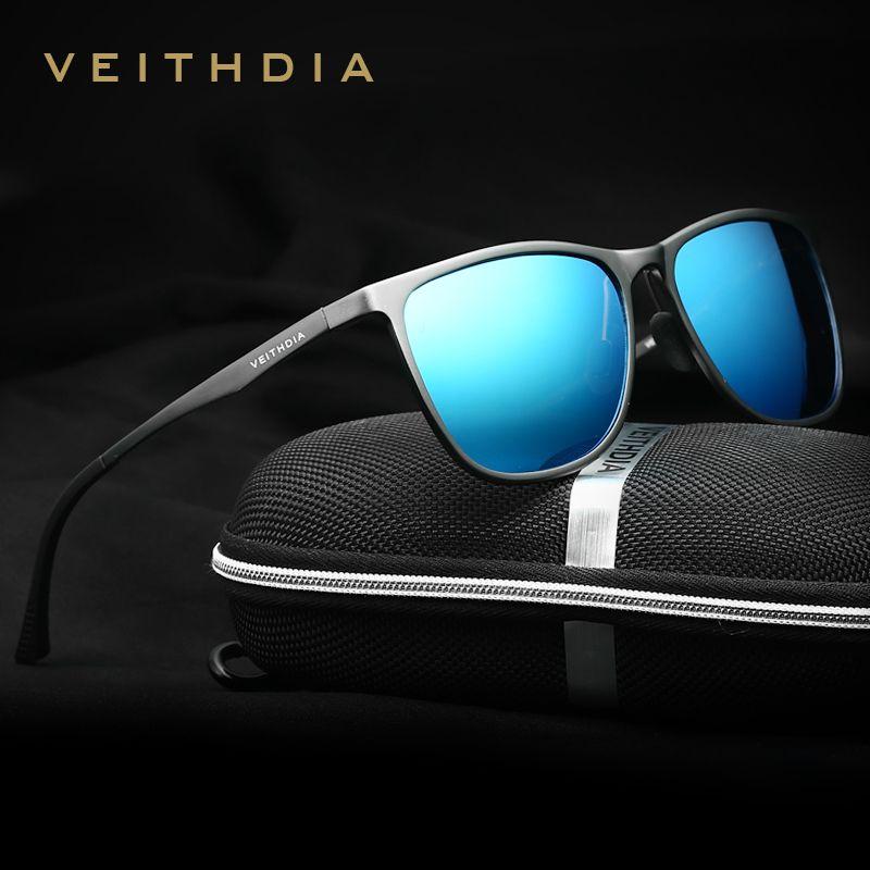 VEITHDIA <font><b>Retro</b></font> Aluminum Magnesium Brand Men's Sunglasses Polarized Lens Vintage Eyewear Accessories Sun Glasses For Men 6623