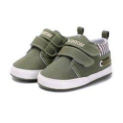 Nouveau Bébé Garçons Filles Toile Chaussures Haute Qualité Deux Sangle Nouveau-Né Bébé En Bas Âge De Mode Premiers Marcheurs Pour 0-18 mois