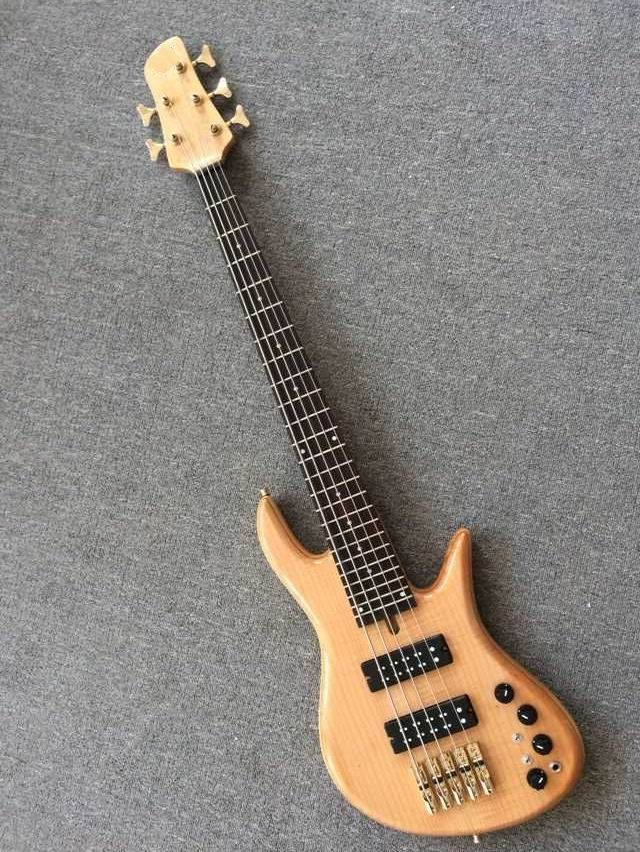 New arrival electric bass guitar 5 string electric bass in natural 150919