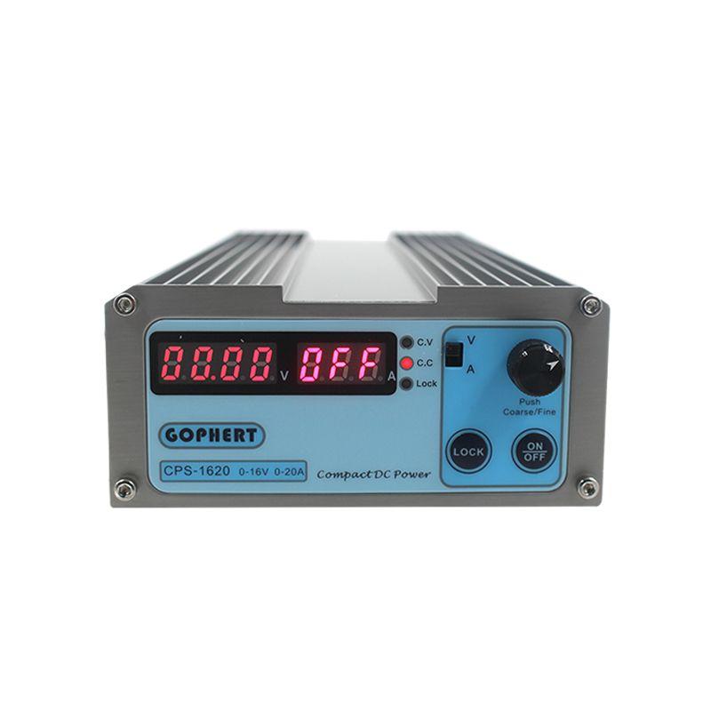 CPS-1620 300W (110Vac/ 220Vac) 0-16V/0-20A, Gopher Compact Digital Adjustable DC Power Supply CPS1620 + Plug EU/US