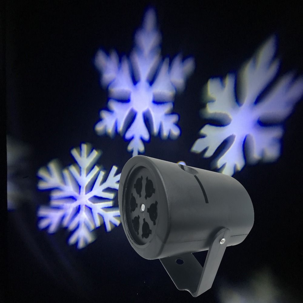 Fábrica Directamente Lámpara Luces De Navidad Copo de Nieve Blanco Móvil Proyector para Weeding Decoración de Vacaciones de Navidad Iluminación para Uso En Interiores