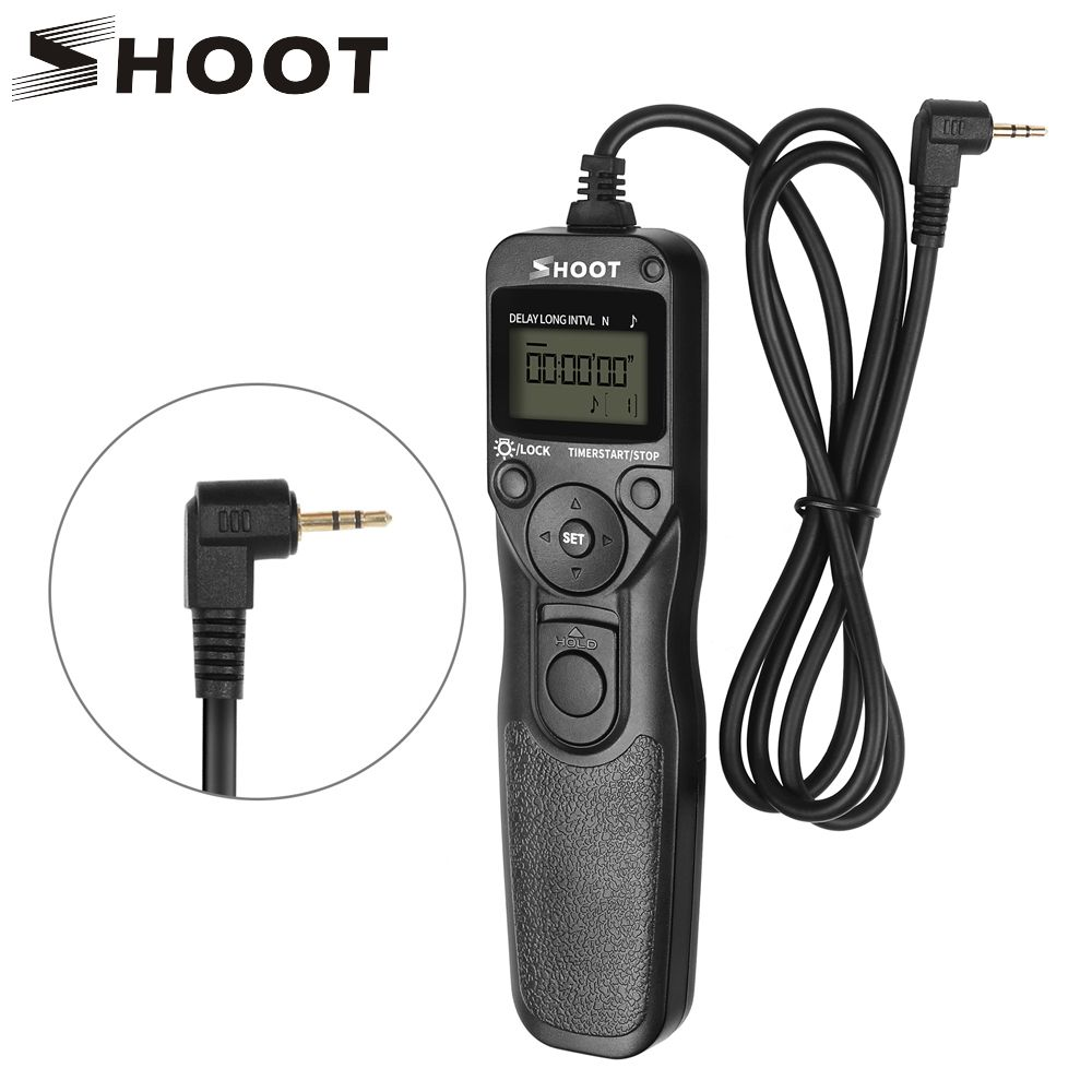 SHOOT RS-60E3 LCD Timer Shutter Release Remote Control for Canon EOS 1300D 1100D 1200D 100D 350D 500D 550D 600D 650D 700D 750D
