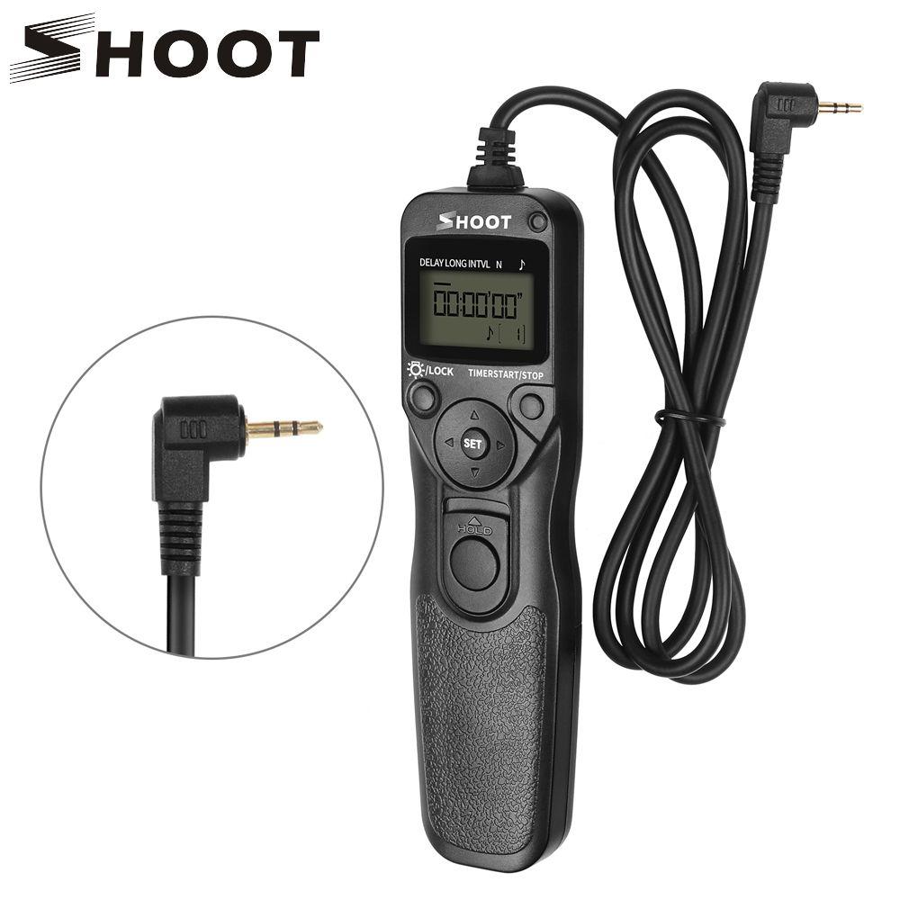 TIRER RS-60E3 LCD Minuterie Déclencheur Télécommande pour Canon EOS 1300D 1100D 1200D 1000D 100D 350D 500D 550D 650D 700D 750D
